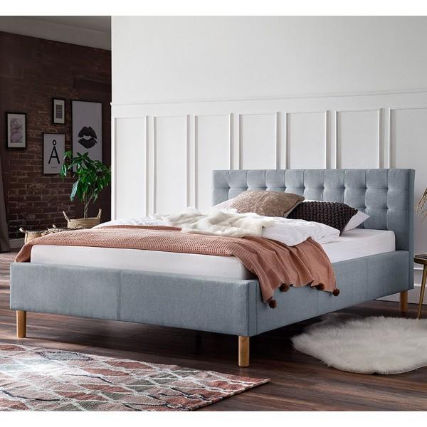 Meise Möbel Polsterbett Malin Eisblau