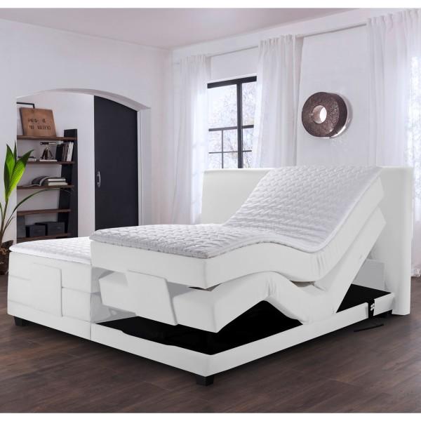 Winkle Boxspringbett Ferrol Weiß mit motorisch verstellbarem Unterbau