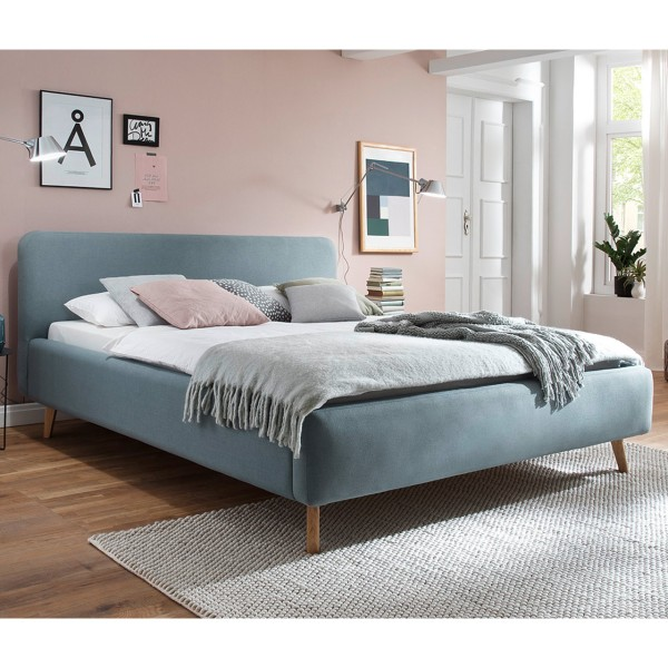 Meise Möbel Polsterbett Mattis Eisblau