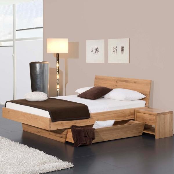 Modular Massivholzbett Natura Matino mit Bettkasten