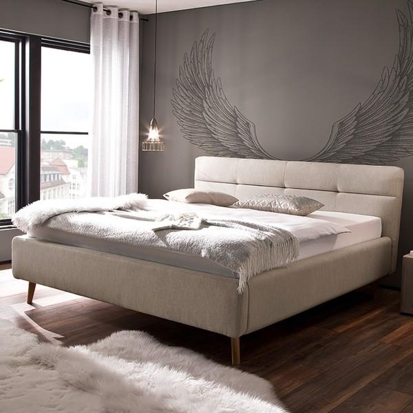 Meise Möbel Polsterbett Lotte mit Bettkasten und Lattenrost Beige