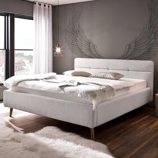 Meise Möbel Polsterbett Lotte mit Bettkasten und Lattenrost Hellgrau