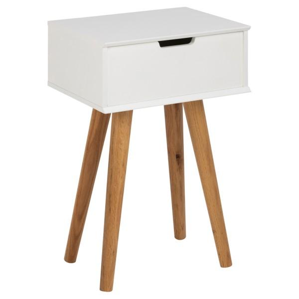 Actona Nachttisch Mitra mit Schublade und Beine aus Eichenholz